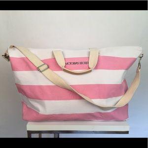 Victoria's Secret Bags - Victoria Secret XL Canvas Weekender Carry On Tote